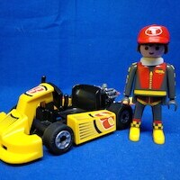 Playmobil Piloto con car amarillo