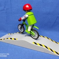 Playmobil Mountainbike con rampa REF 4417