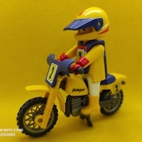 Playmobil Motorista de motocross jumper Nº 2