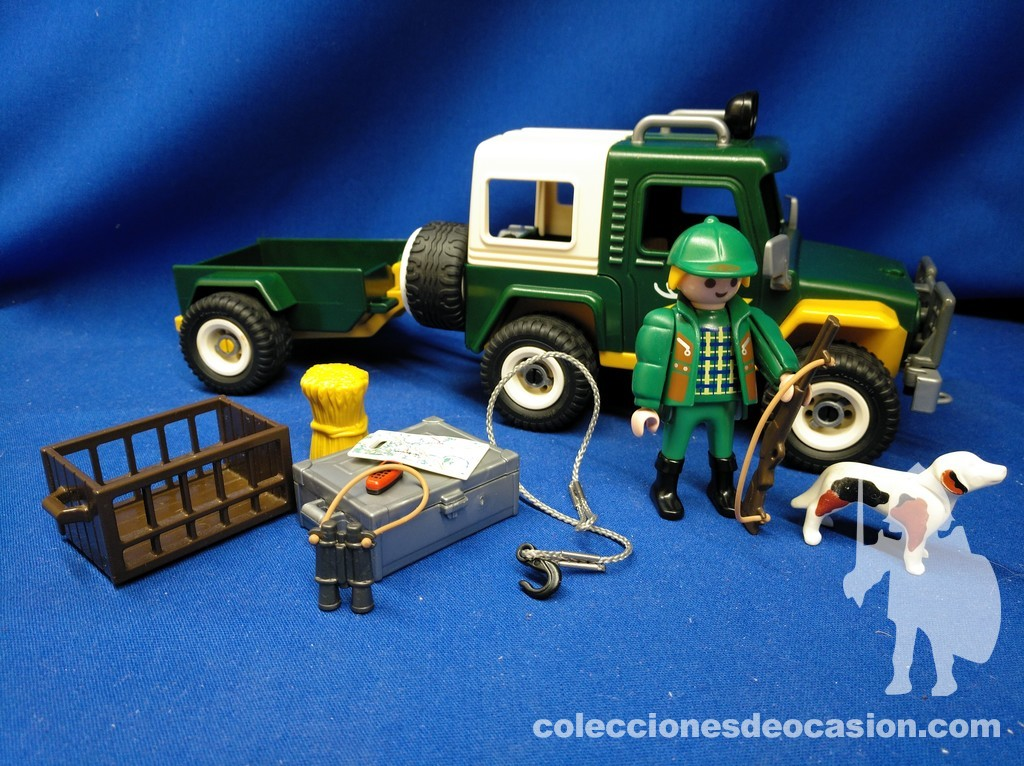 Playmobil Guarda forestal con todoterreno REF 4206, Cazador