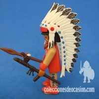 Playmobil Jefe indio coyote colorado