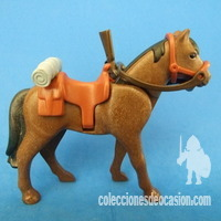 Playmobil Caballo marrón con silla con winchister