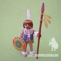 Playmobil Antiguo guerrero indio, Siux