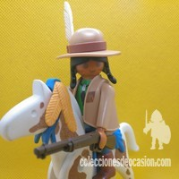 Playmobil Explorador indio con caballo, rastreador