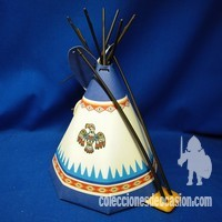 Playmobil Tipi india con hoguera