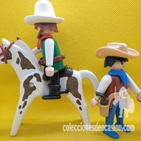 Playmobil Cowboys con caballo REF 3304