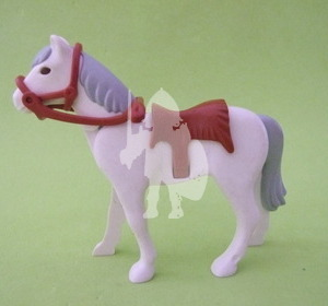 Playmobil Caballo blanco con manta marrón